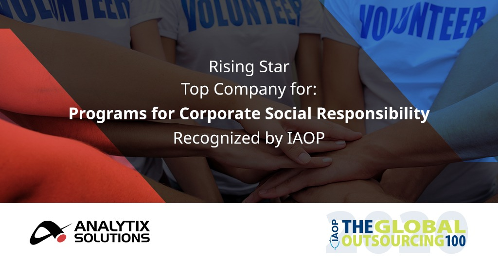 Analytix recognized on IAOP's 2020 Global Outsourcing 100 List
