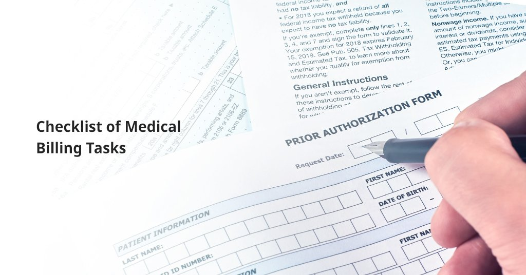 Checklist of medical billing process Infographics
