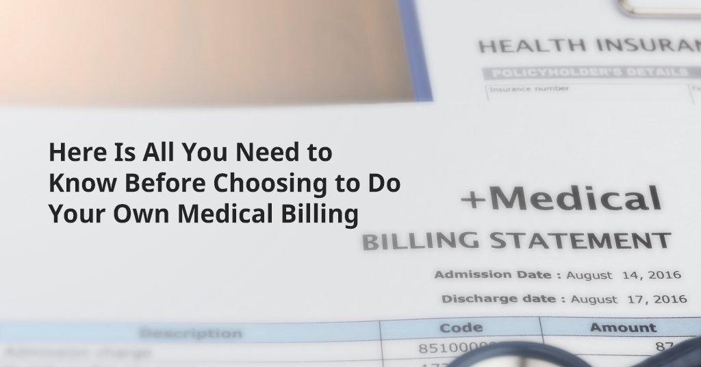 Choosing inhouse medical billing